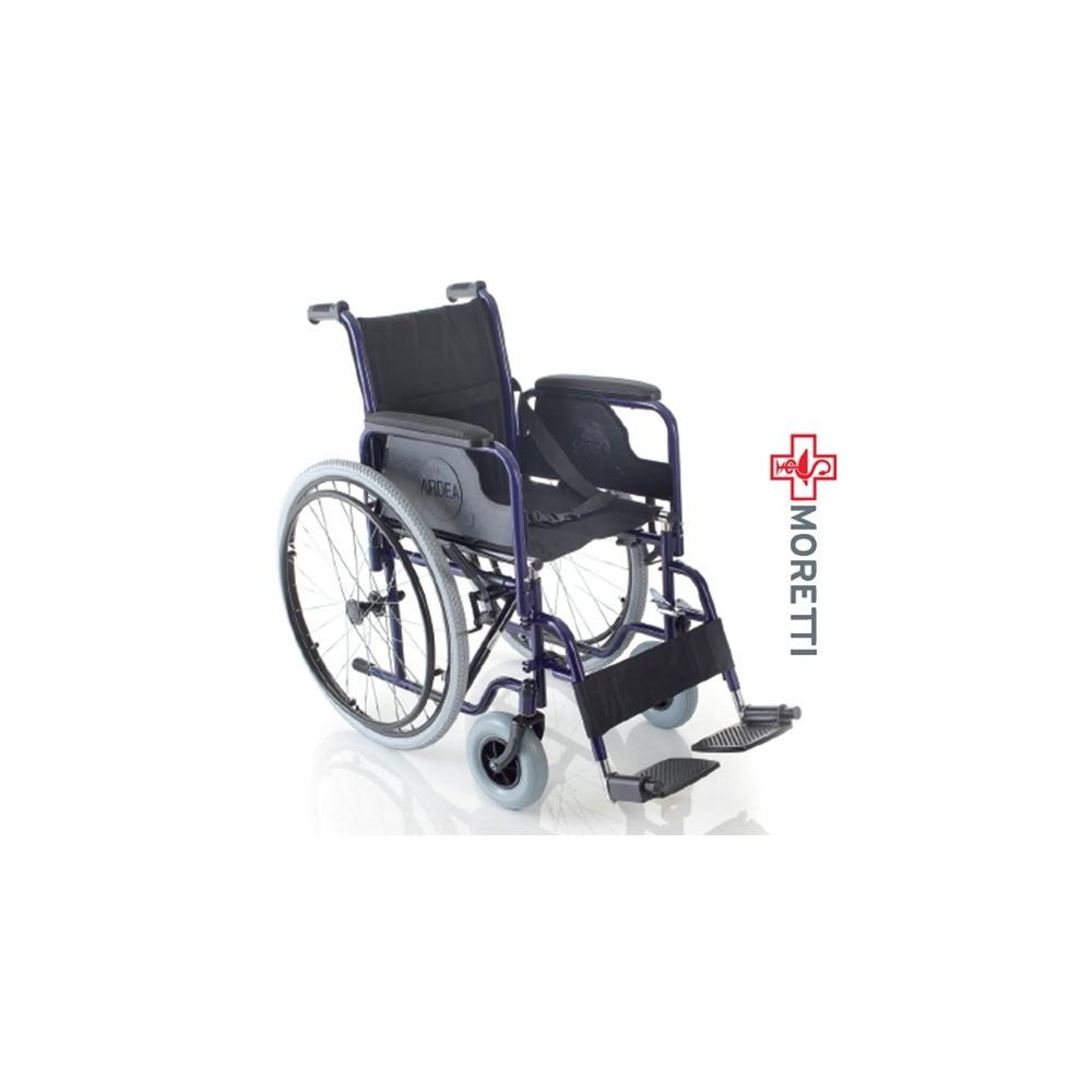 MCB120 - Fotoliu rulant pliabil cu actionare manuala, otel vopsit