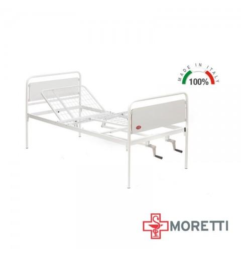 MI110 - Pat de spital mecanic, cu 2 sectiuni ajustabile