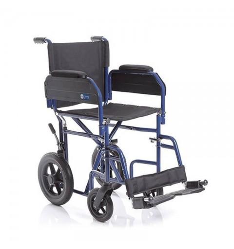 CP620 Skinny - Carucior pliabil transport pacienti aluminiu, antrenare manuala - 110 Kg