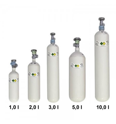 Luxfer - Butelii oxigen din aluminiu de 1L, 2L, 3L, 5L, 10L