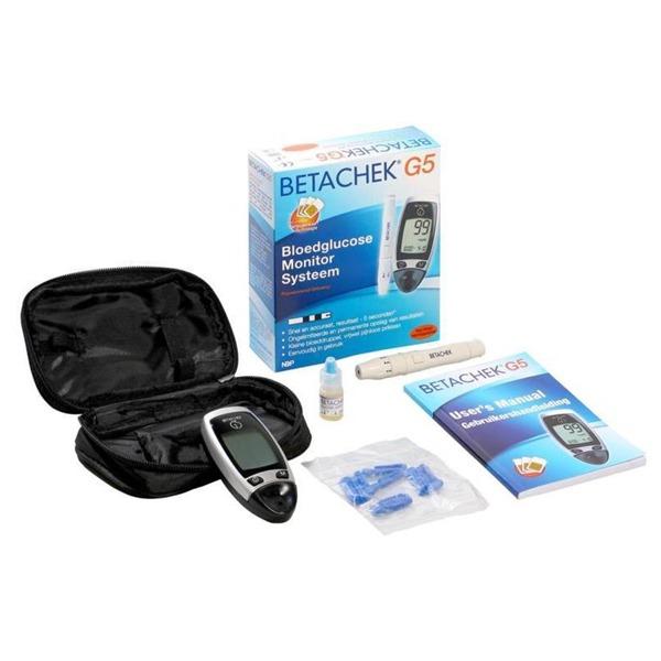 Betachek G5 100 - Kit Glucometru Betachek G5 - Aparat Si 100 Teste
