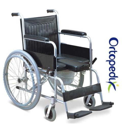 FS609LU - Carucior/scaun WC din aluminiu cu roti