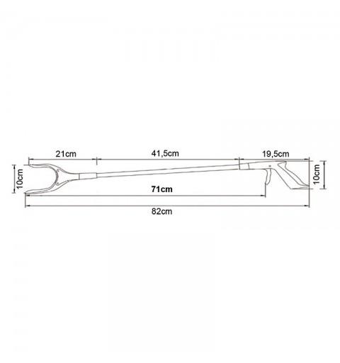 AU122 -  Baston de prindere din plastic 55 cm