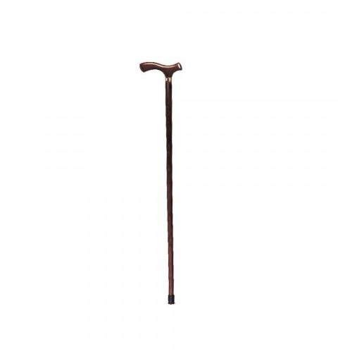 Baston din lemn, pentru barbati, cu inel cromat - RP132