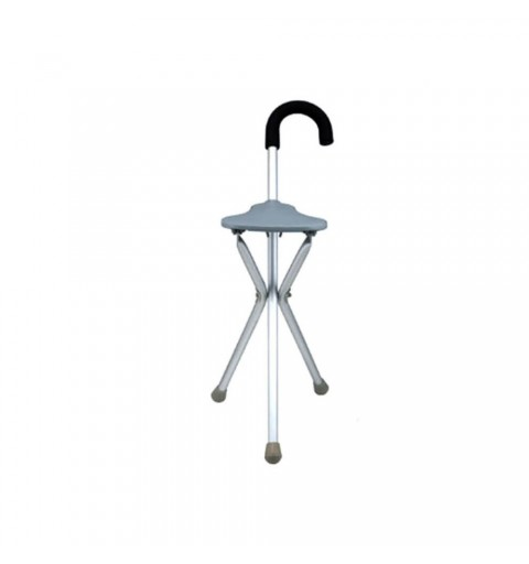 Baston cu scaun pliabil si maner curb - FS945L