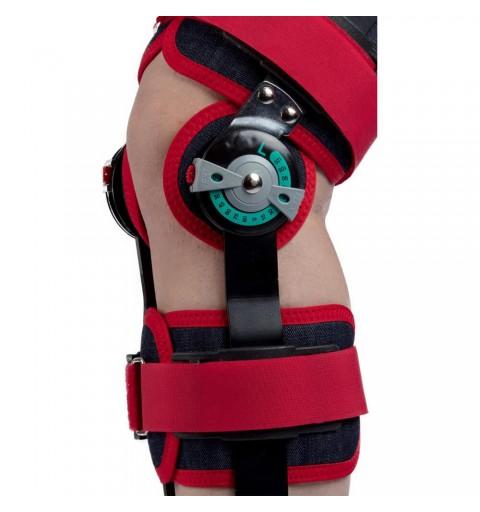 Orteza imobilizare pentru genunchi cu unghi reglabil, din jeans - Armor ARJ1011