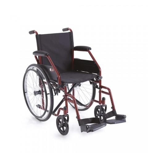 Carucior cu rotile cu actionare manuala, cadru rosu - CP100R Start