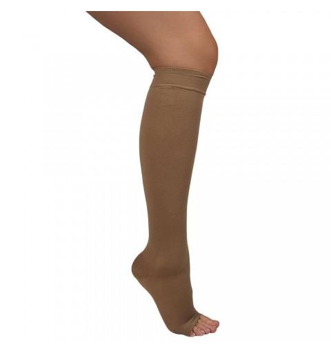 Ciorapi cu compresie de 18-22 mmHg, pana la genunchi, cu varful deschis - ARS10